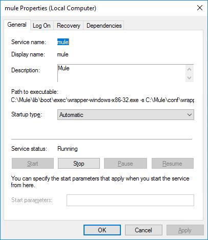 Automatically Restart Mule Windows Service