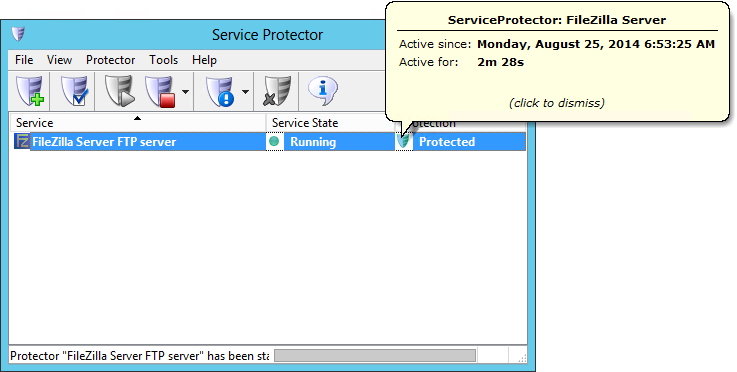 Automatically Restart FileZilla Windows Service | Service
