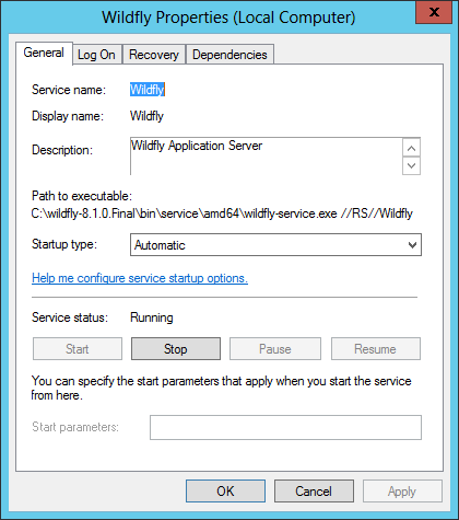 How to Keep the WildFly Windows Service Running