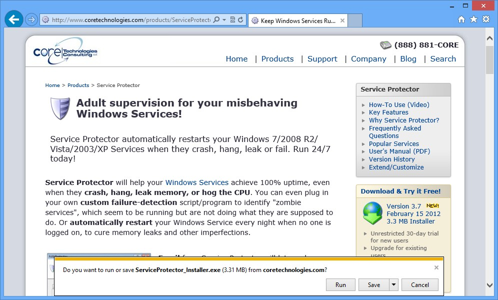 How to Install Service Protector on Windows 10/2012/8/2008R2/7/Vista