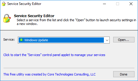 Set Windows Service Permissions   A free GUI to configure start/stop