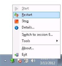 Control any Windows Service with a Taskbar Tray Icon